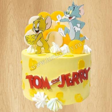 Торт с котом Томом