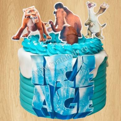 Торт мамонт Мэнни и Ленивец Сид