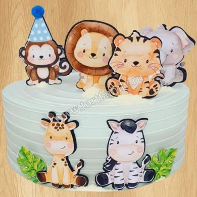 Торт Жираф, Лев, Зебра из Мадагаскар