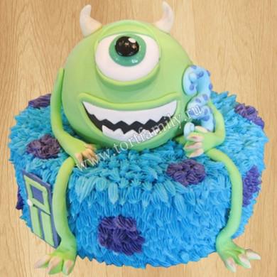 Торт монстрик на 3 годика