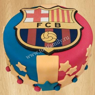 Торт с эмблемой Барселона