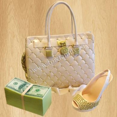 Торт модная женская сумка