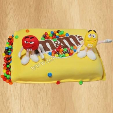 Детский торт ммдемс