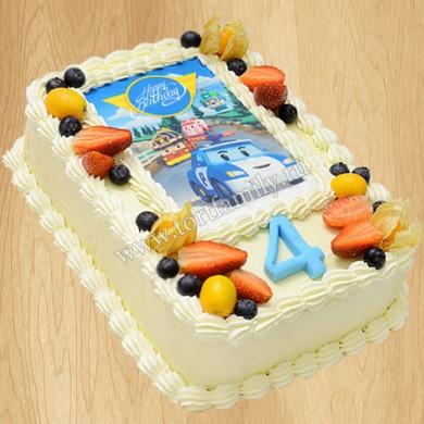 Торт Робокар Поли без мастики