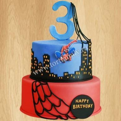 Двухъярусный торт на 3 года