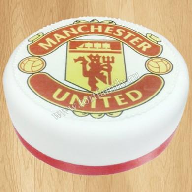 Торт с эмблемой Манчестер Юнайтед