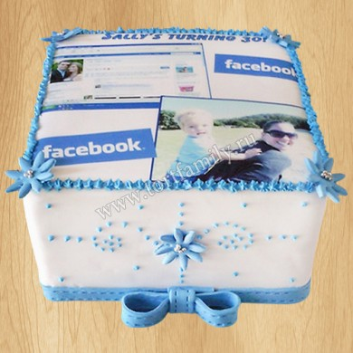 Торт Фэйсбук