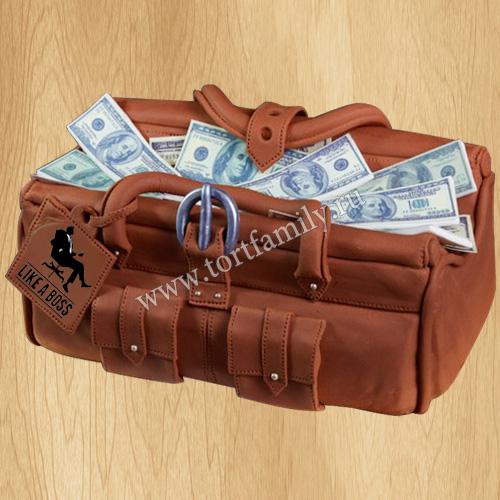 Торт Саквояж с деньгами