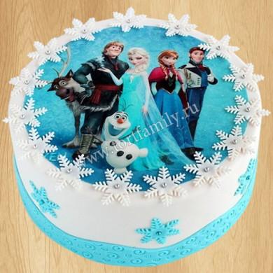 Новогодний торт с фотопечатью