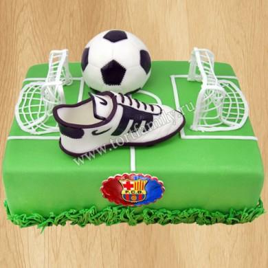 Футбольный торт Барселона