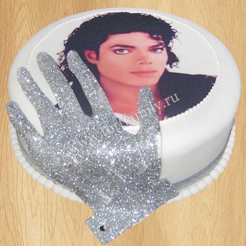 Торт с фото Майкла