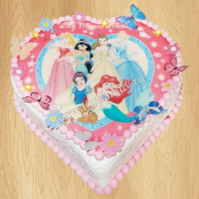 Детский торт сердце