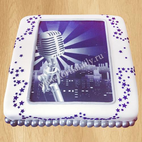 Торт микрофон без мастики
