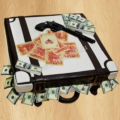 Торт в виде чемодана с $