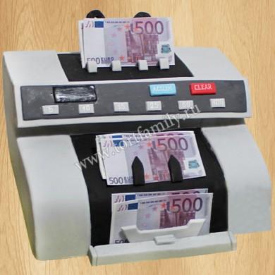 Торт Машинка для счета денег