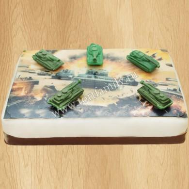 Торт с танками дедушке на 9 мая