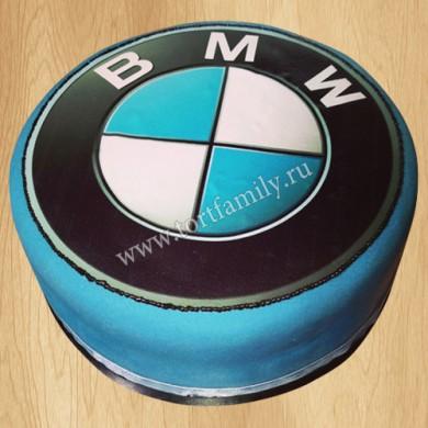 Торт с лого БМВ