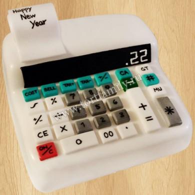 Торт в виде калькулятора