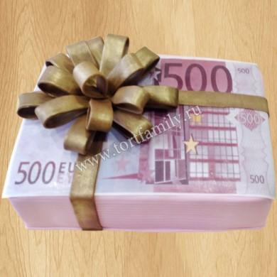 Торт Пачка денег по 500 евро