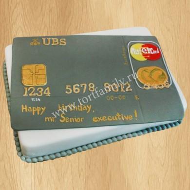 Торт в виде банковской карты