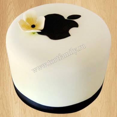 Торт с эмблемой Apple