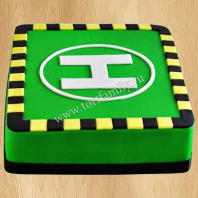 Торт вертолетная площадка