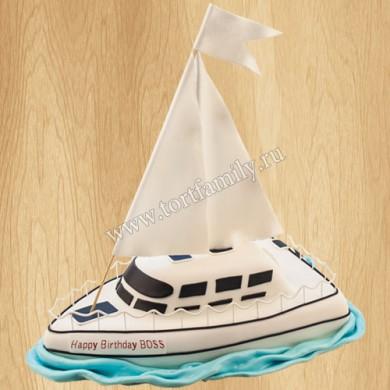Торт парусная яхта