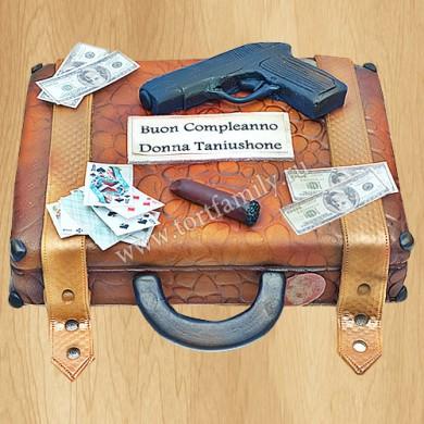 Торт чемодан Гангстера