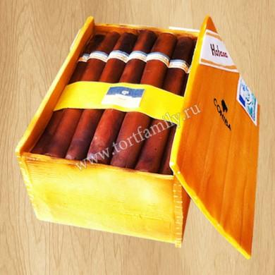 Торт в виде коробки сигар