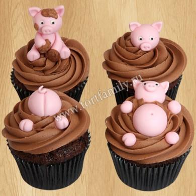 Капкейки со свинками