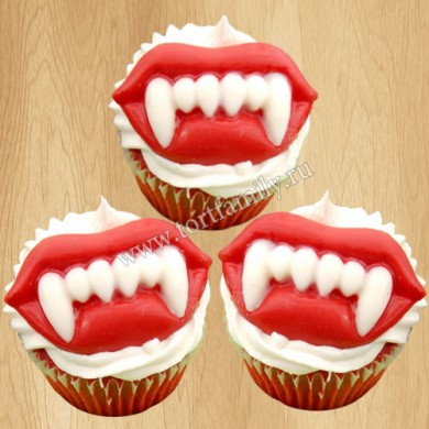 Капкейки Зубы Вампира