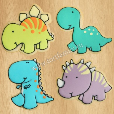 Пряники с динозаврами