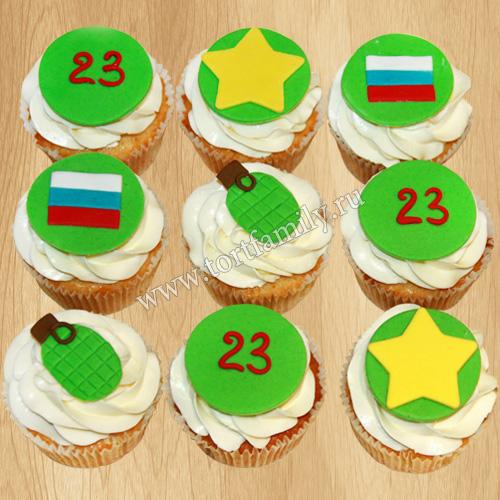 Пирожные к 23 февраля