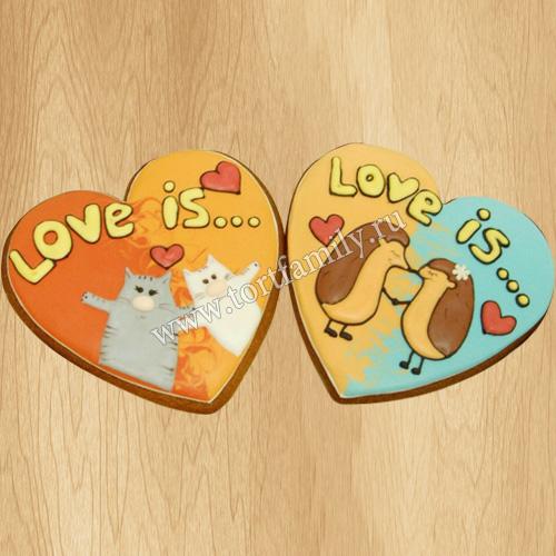 Пряники Love is на 14 февраля