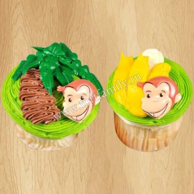 Капкейки с обезьянками