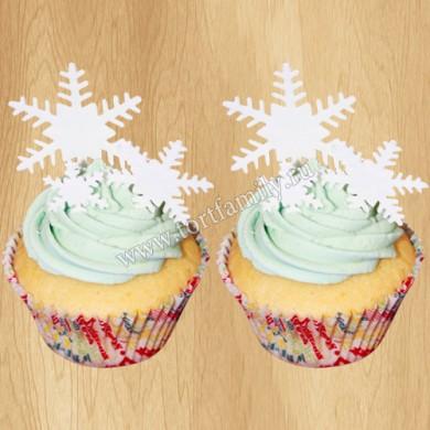 Пирожные со снежинками