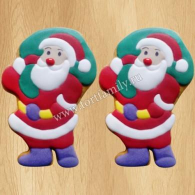 Пряники в виде Деда Мороза
