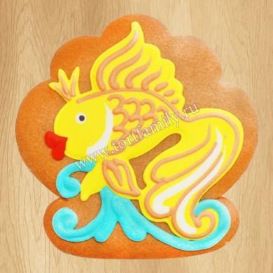 Пряник золотая рыбка