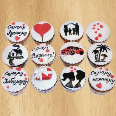Пирожные на День Святого Валентина