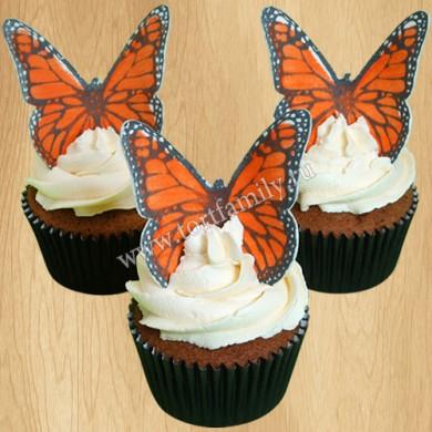 Капкейки с бабочками