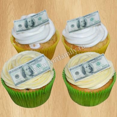 Капкейки с деньгами