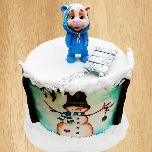 Торт на Новый год 2021 для мальчика