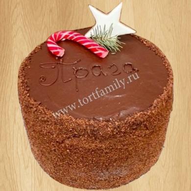 Торт Прага на Новый год
