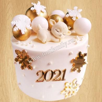 Новогодний торт год быка