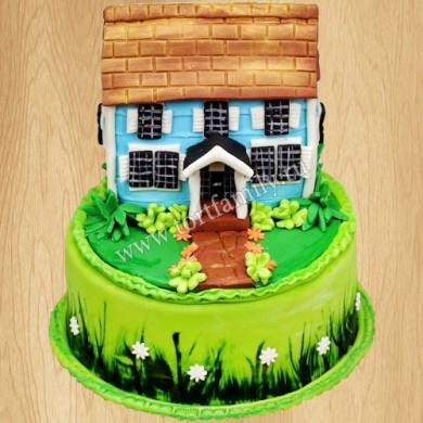 Торт дом на новоселье