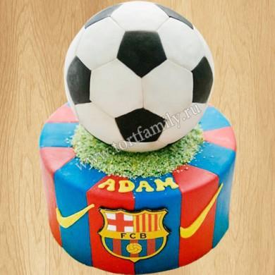 Торт с символикой Barcelona