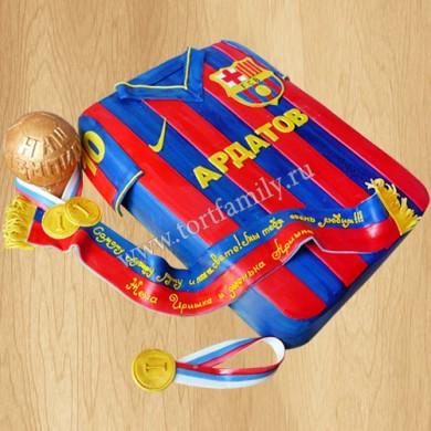 Торт футбольная форма Барселона