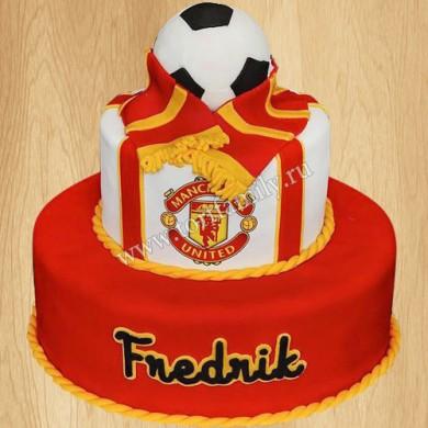 Торт с символикой Manchester United