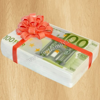 Торт Пачка купюр 100 евро
