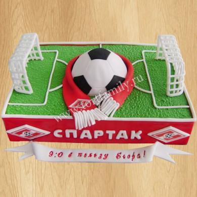 Торт футбольное поле Спартак